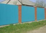 Забор, профнастил кирпич Проект5