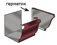 Монтаж водостока прямоугольного сечения 5