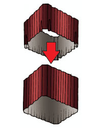 Монтаж водостока прямоугольного сечения 7