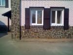 Отделка камнем фасада и цоколя